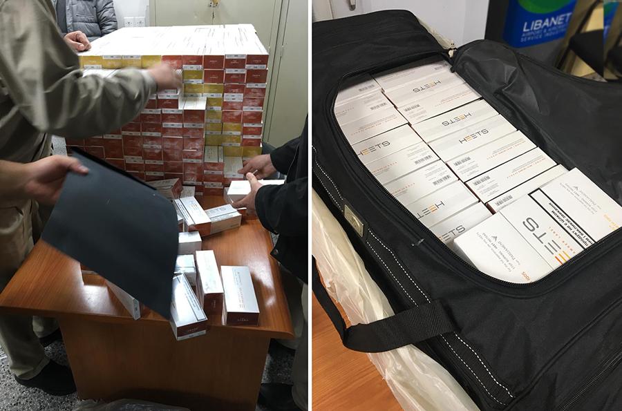 بالصور/ في المطار...20 كيلو ذهب مهربة من تركيا وحوالي 800 علبة دخان مهربة من أوكرانيا ضُبطت مساء اليوم