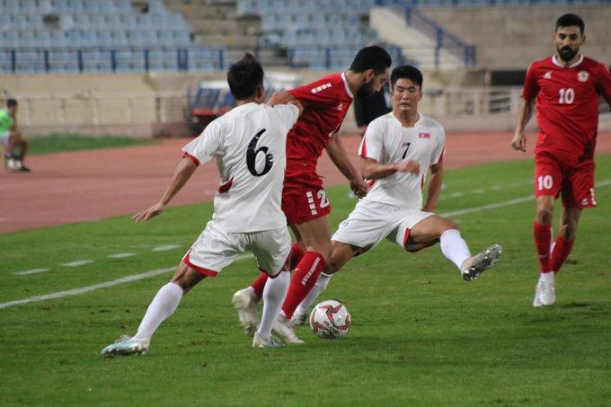 إنتهاء مباراة لبنان وكوريا الشمالية بالتعادل السلبي 0-0 في إطار التصفيات الاسيوية المؤهلة لكأس العالم 2022 وكأس آسيا 2023 بكرة القدم