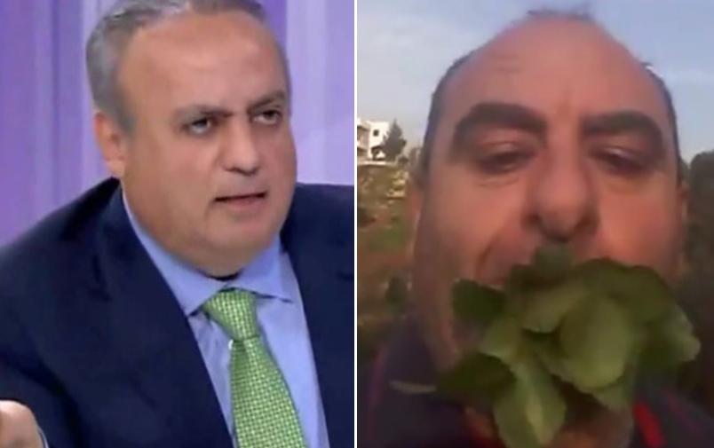 """وئام وهاب ينشر فيديو لرجل يأكل العشب الاخضر: """"ما تستبعدو نصير هيك اذا كفت الدولة هيك"""""""