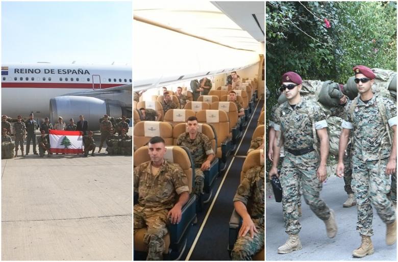 بالصور/ فصيلة من مغاوير الجيش اللبناني تغادر إلى مدريد للمشاركة بالعيد الوطني الاسباني بدعوة من حكومة إسبانيا
