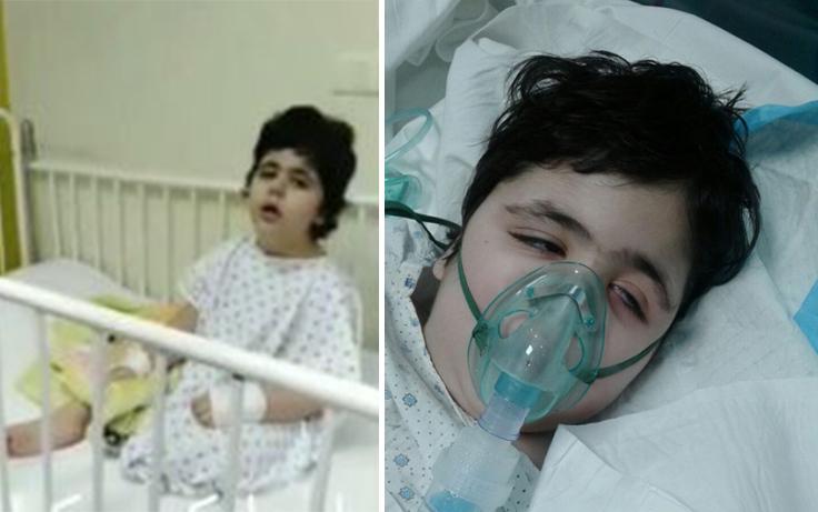 الطفلة هند لا تزال بين أسرة المستشفيات منذ أشهر