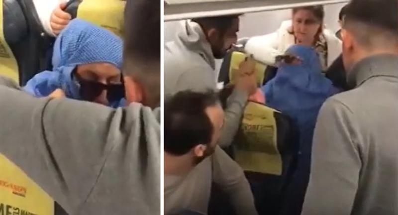 بالفيديو/ إمرأة تهدد بتفجير طائرة خلال رحلة من اسطنبول إلى قبرص...لحظات رعب عاشها الركاب!