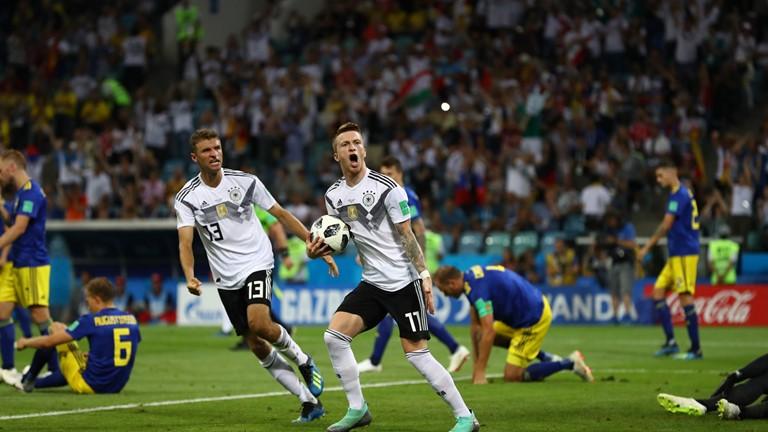 المنتخب الالماني يسجل هدف التعادل مع السويد
