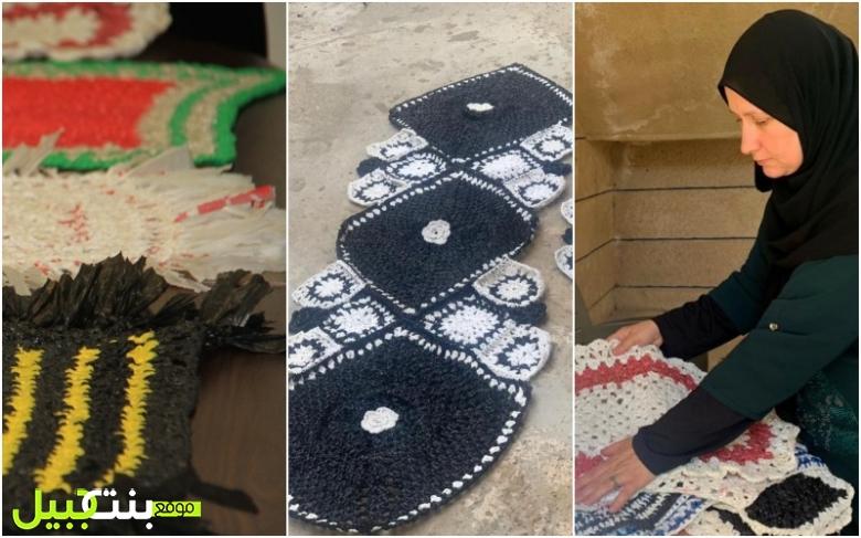 """بالصور/ """"كروشيه بيئي"""" في شقرا الجنوبية...السيدة رنا الأمين تحول أكياس النايلون بإسلوب مميز إلى """"دعسات"""" وارضيات ملونة!"""