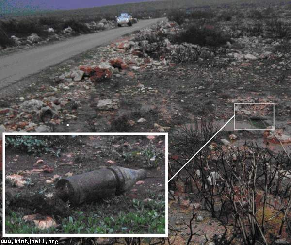 العثور على قذيفة من مخلفات عدوان تموز في طيرحرفا