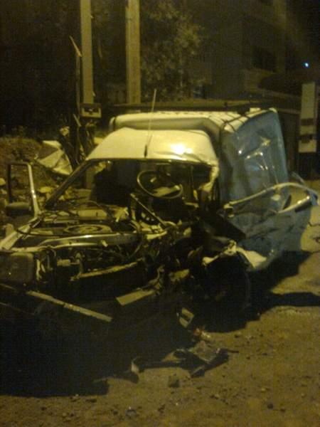 جريحان في حادث سير مروع في مدينة بنت جبيل ( مصور)