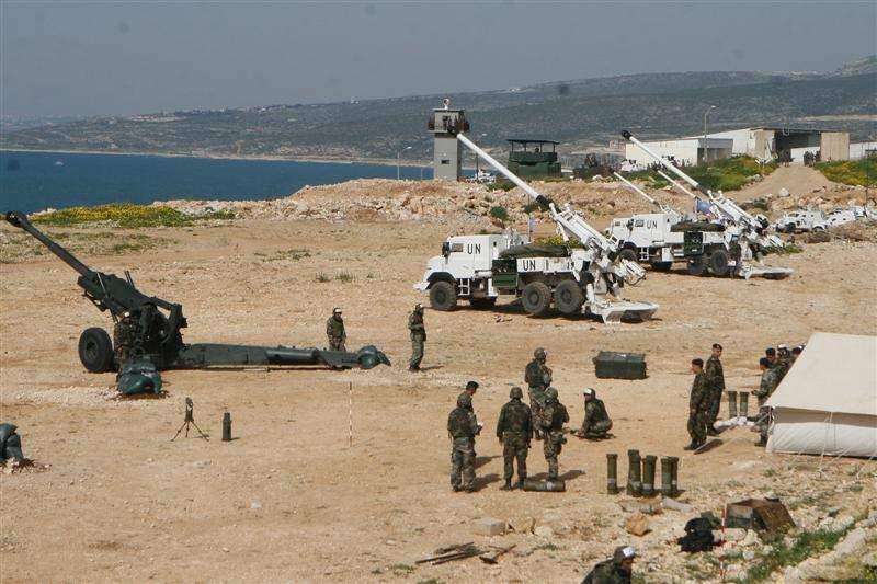 """""""اليونيفيل"""" والجيش اجريا تدريبا مشتركا بالمدفعية"""