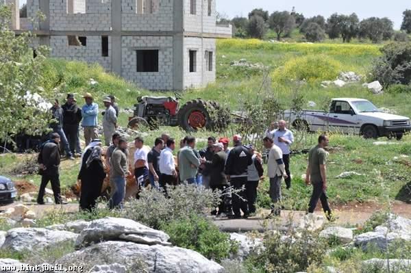 اعتصام في بيت ياحون امام مقلع للاحجار
