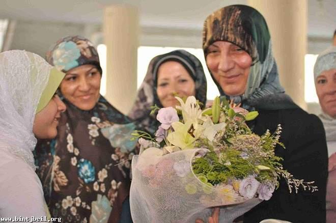 السيدة رباب الصدر احيت ذكرى ولادة المهدي (عج) في بنت جبيل