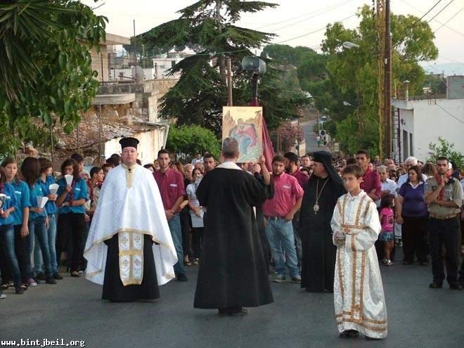 قداديس احتفالية في عين ابل بعيد مار الياس