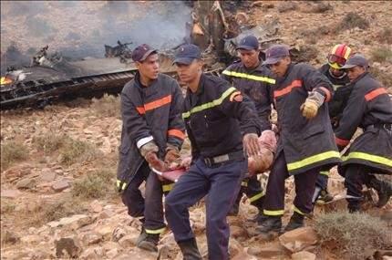 المغرب: 80 قتيلا بتحطم طائرة عسكرية