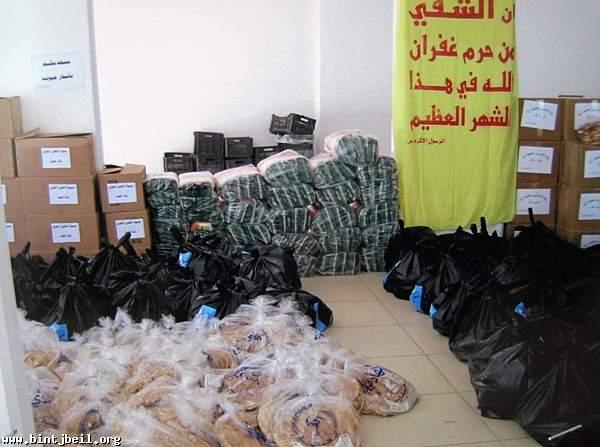 """بنت جبيل : """" مائدة الامام زين العابدين """" في شهر رمضان : حصص تموينية لاكثر من 500 عائلة"""