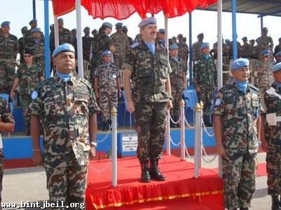 تسليم وتسلّم في قيادة الوحدة النيبالية في ميس الجبل برعاية قائد القطاع الشرقي