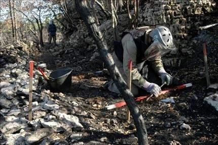 تنظيف 14حقلاً ملوثاً بالألغام من أصل 46 في إقليم الخروب