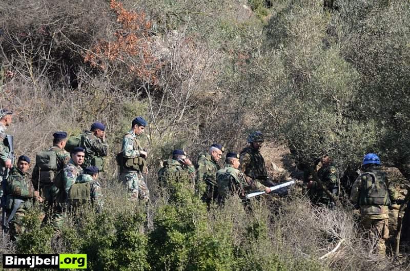 """خاص بنت جبيل .اورغ : صور اولية لمكان اطلاق الصواريخ في """" شرتا """" بين وادي رميش و عين ابل"""