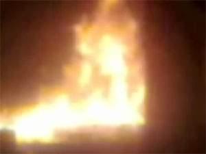 حريق في سوق بنت جبيل ( التحتاني)