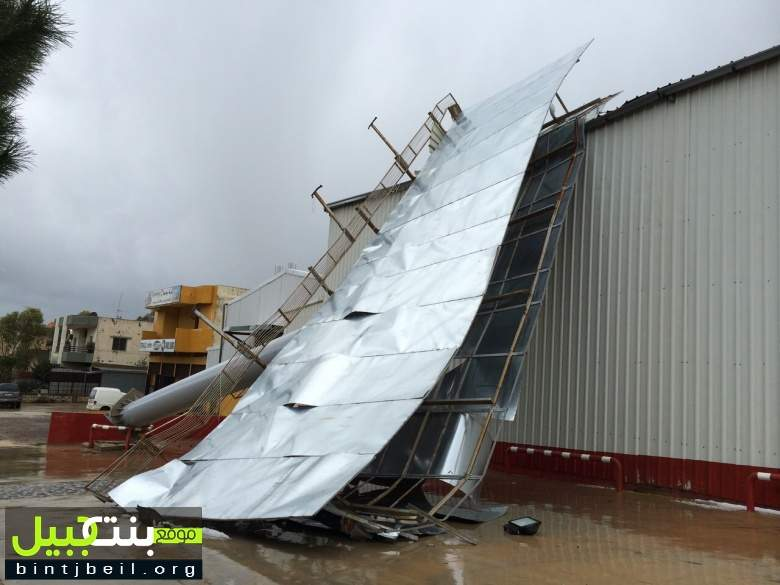 أضرار في الزهراني بسبب العاصفة والمزارعون قلقون