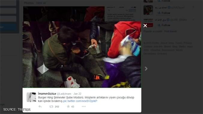 ضرب مبرح لطفل سوري لاجئ في تركيا أكل بقايا البطاطا من المطعم