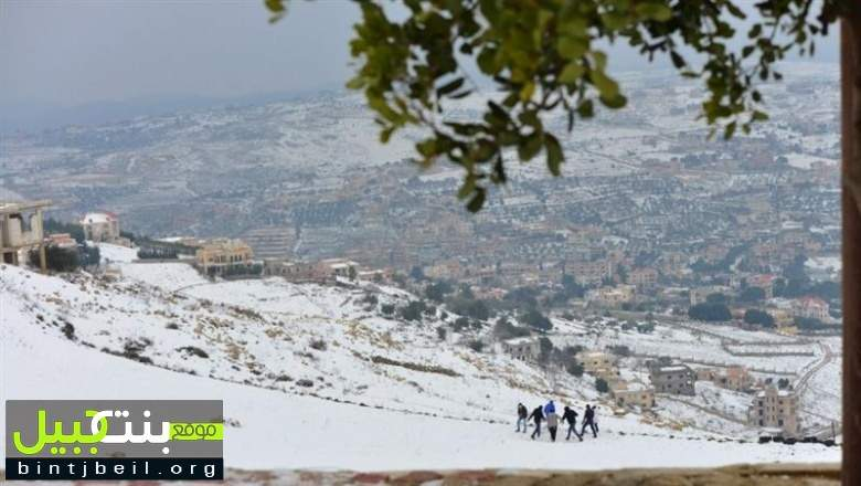 عاصفة قوية يتخللها ثلوج وامطار و سيول تضرب لبنان خلال الساعات القادمة وموقع بنت جبيل يطلق سلسلة تحذيرات