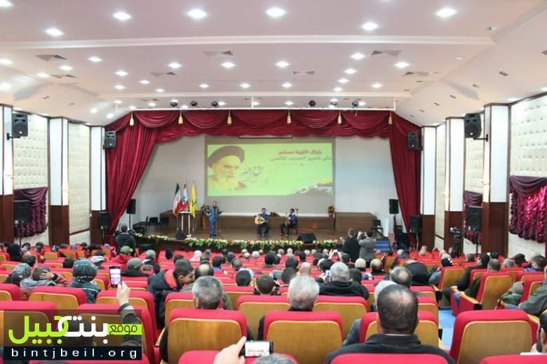حفل إنشادي في بلدة عيناثا لفرقة نجوم اهواز الإيرانية بمناسبة إنتصار الثورة الإيرانية