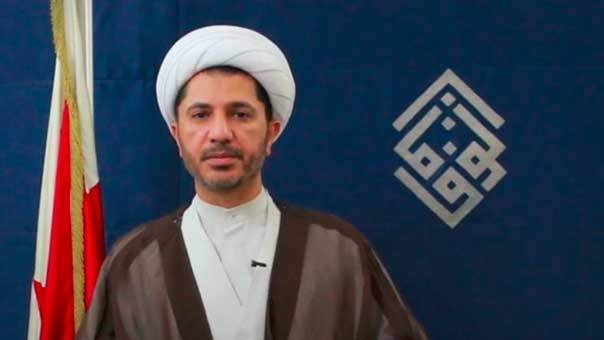الشيخ سلمان مخاطباً الشعب البحريني من معتقله: استمروا في حراككم وتمسّكوا بسلميتكم