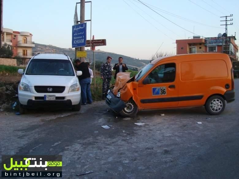 حادث سير على طريق الدردارة يوقع جرحى
