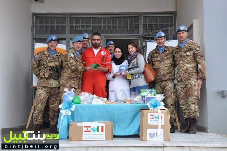 هبة ايطالية للصليب الاحمر اللبناني في صور