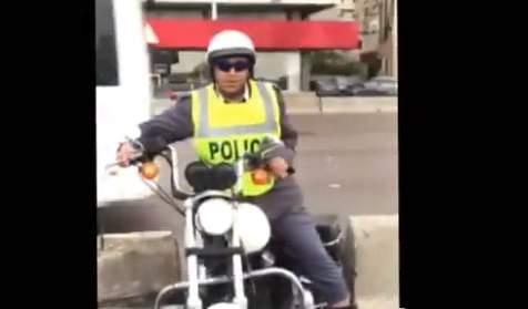 بالفيديو- درّاج يخرق قانون السير ...وقوى الأمن توضح