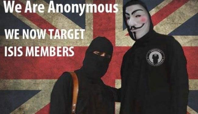 """""""أنونيموس″ تنشر قائمة المواقع التابعة لـ""""داعش"""" والاخير يهدد"""