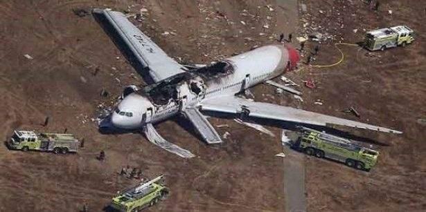 طائرة كورية تنجو من كارثة محتمة...واليكم السبب