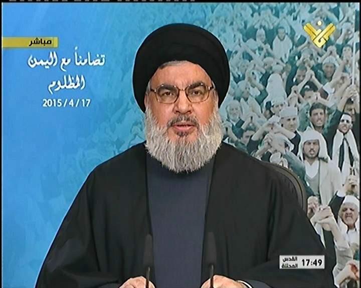 السيد نصر الله: هناك تهديد للحرمين الشريفين من داعش  و الحرم النبوي الشريف في خطر من داخل السعودية بسبب الفكر الوهابي و الثقافة الوهابية  و هم من قاموا بتهديم الاثار الدينية