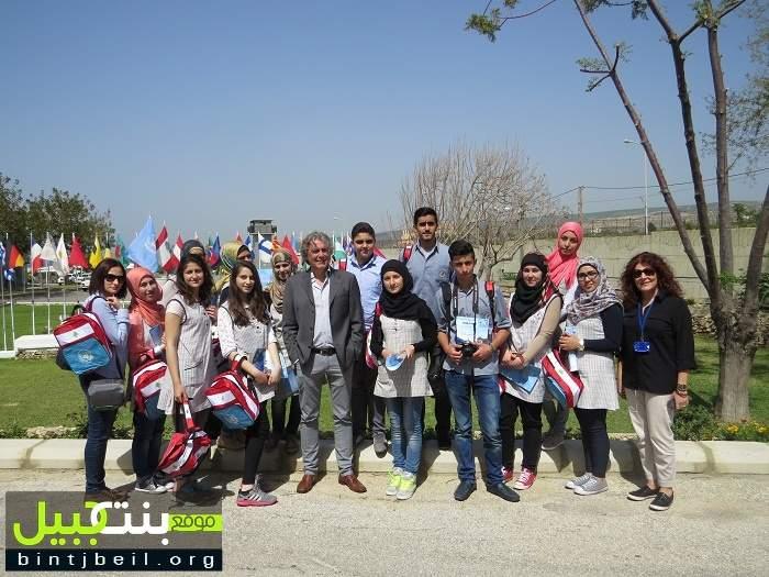 طلاب نادي الصحافة في ليسه حناوية يزورون مقر قيادة اليونيفيل في الناقورة