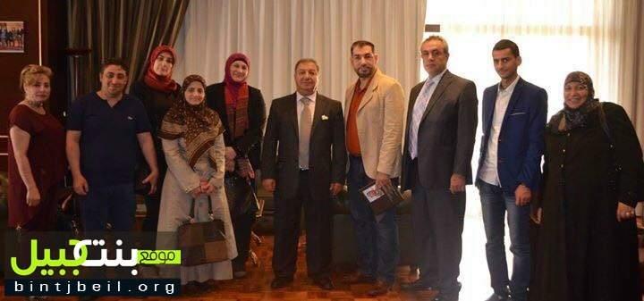 جمعية حواس تزور نقيب الصحافة عوني الكعكي