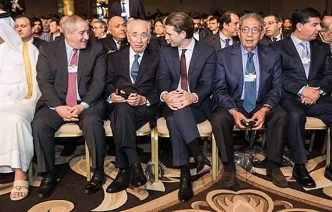 بالفيديو: بهاء الدين رفيق الحريري الى جانب الرئيس الاسرائيلي