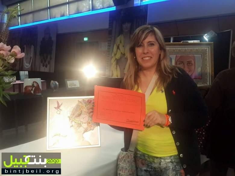لبنانية تحصد الجائزة الثالثة في معرض للرسم على البورسلين في فرنسا