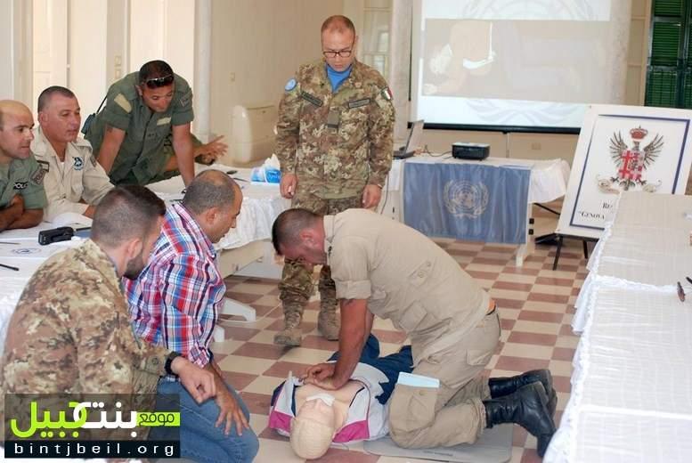 اليونيفيل الإيطالية تنظم دورة تدريبية في الإسعافات الأولية لشرطة بلدية صور