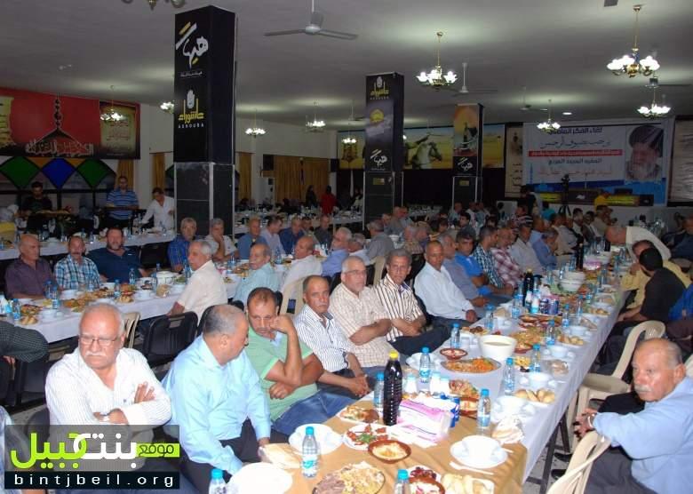افطار بذكرى رحيل العلامة المرجع السيد محمد حسين فضل الله في عيناتا