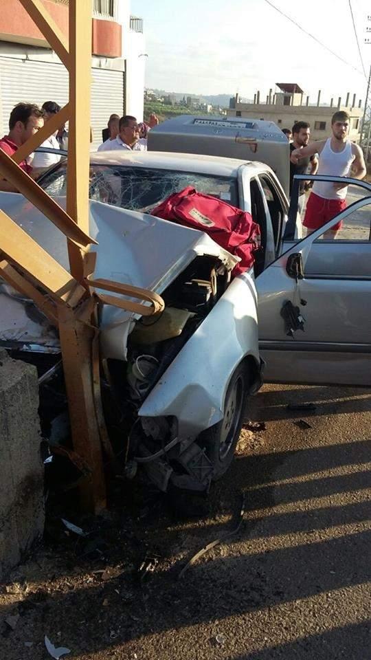 3 جرحى في حادث سير على طريق المصيلح - النبطية