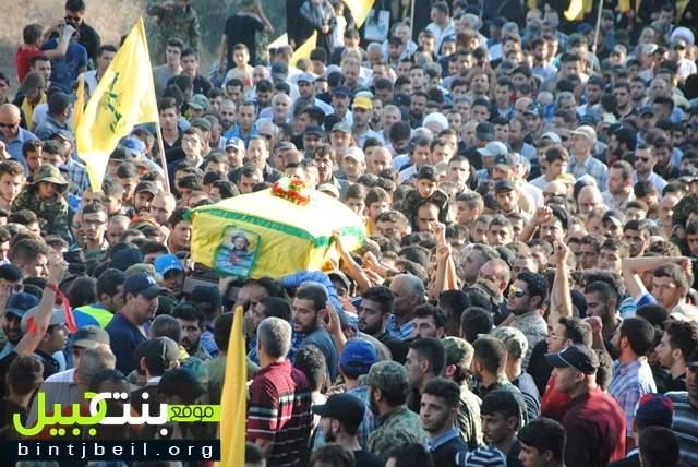 تشييع مهيب للشهيد محمد صادق قانصو في بلدته الدوير