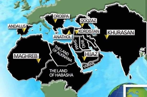 """خارطة لـ""""داعش"""" تُظهر لبنان في """"أرض الخلافة"""" بعد 5 سنوات!"""