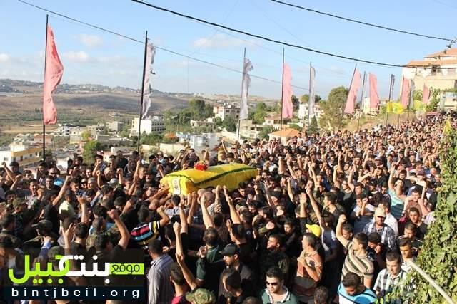 تشييع الشهيد المجاهد محمد رمزي ابراهيم (مجتبى) في بلدة عبا