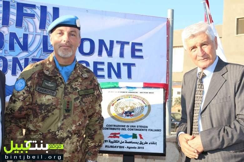 الوحدة الإيطالية تدشن طريقا في بلدة رميش الحدودية