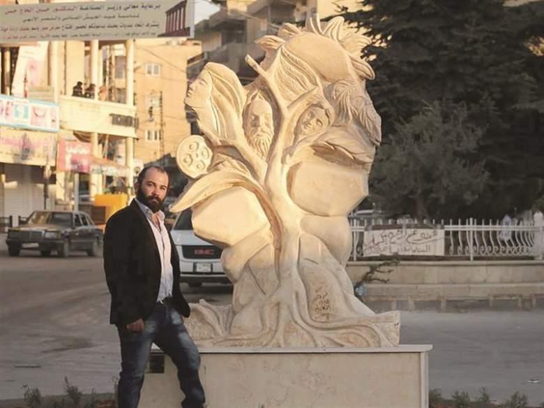 منحوتة عمر عباس في بعلبك... الشمس في مدينة الشمس