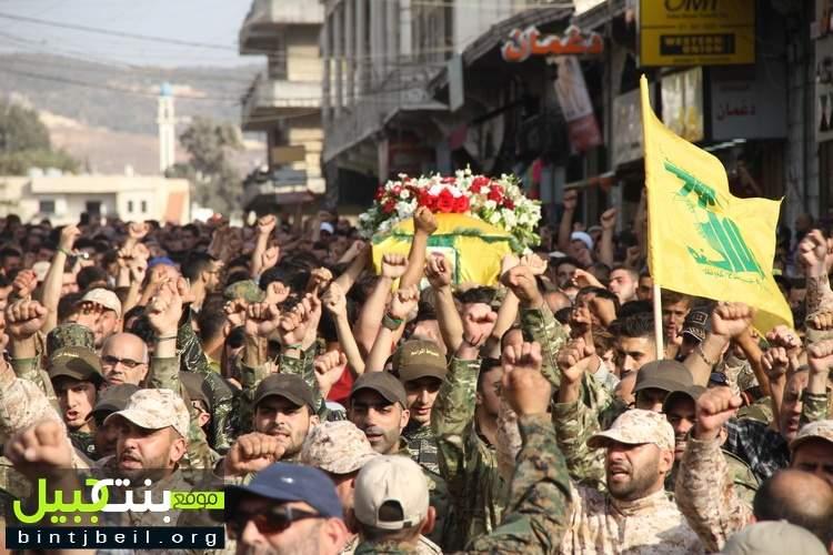 حزب الله وأهالي مدينة النبطية شيعوا الشهيد المجاهد حسن موسى شومرالى مثواه الأخير
