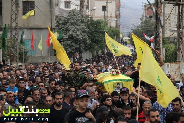 بلدة عين قانا تشيّع شهيدها المجاهد يوسف عدنان رزق (كاظم)