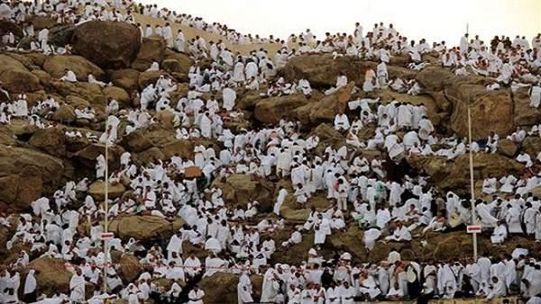 قرابة 10 آلاف لبناني يقفون على جبل عرفة