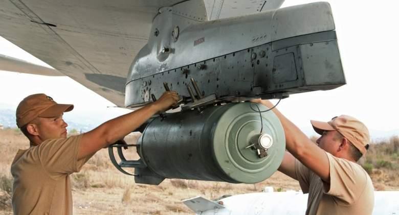"""طائرات روسية تلقي قنابل """"كا أ بي-500"""" على منشآت الإرهاب في سوريا"""