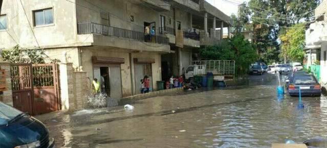 أضرار الامطار الغزيرة في صور