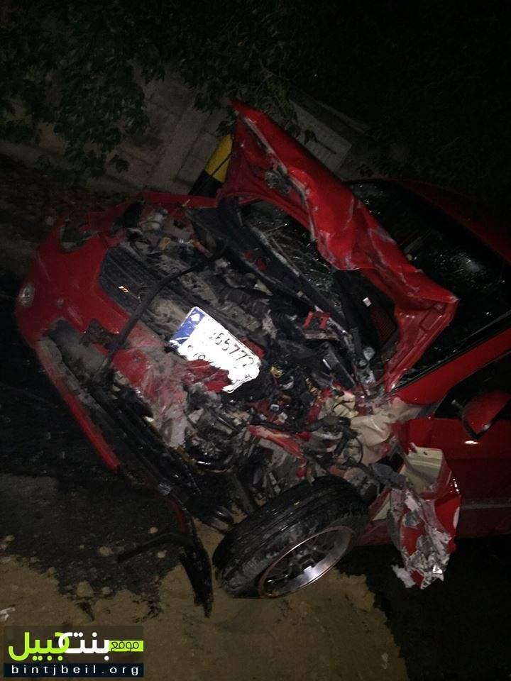 قتيلة و 7 جرحى في حادث سير مروع على طريق شوكين - النبطية مساء اليوم