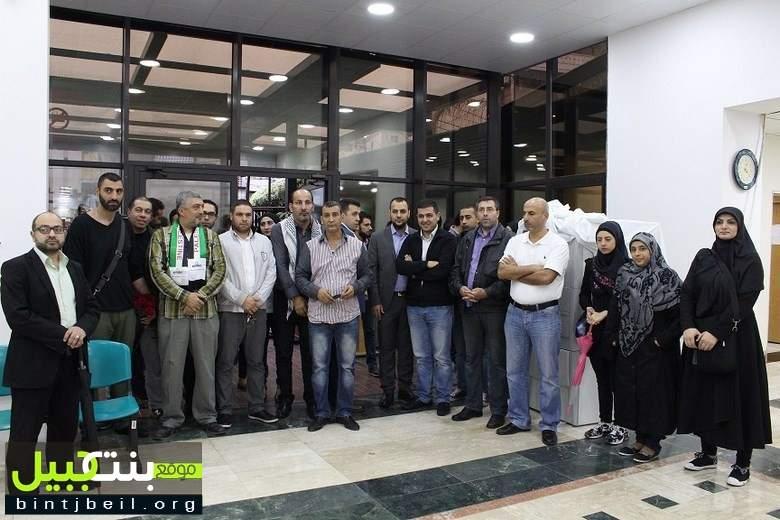 وفد من المنظمات الشبابية يزور مستشفى بهمن لمعايدة الجرحى والتبرع بالدم